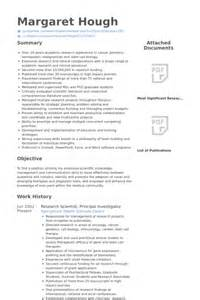 Principal Investigator Sle Resume by Research Scientist Resume Sles Visualcv Resume Sles Database