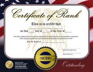 Martial Arts Certificate Templates Free Rank Certificate 8 5 X 11 Ma010504