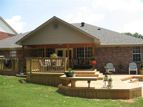 Good Looking Backyard Deck Designs Ideas With Natural Teak