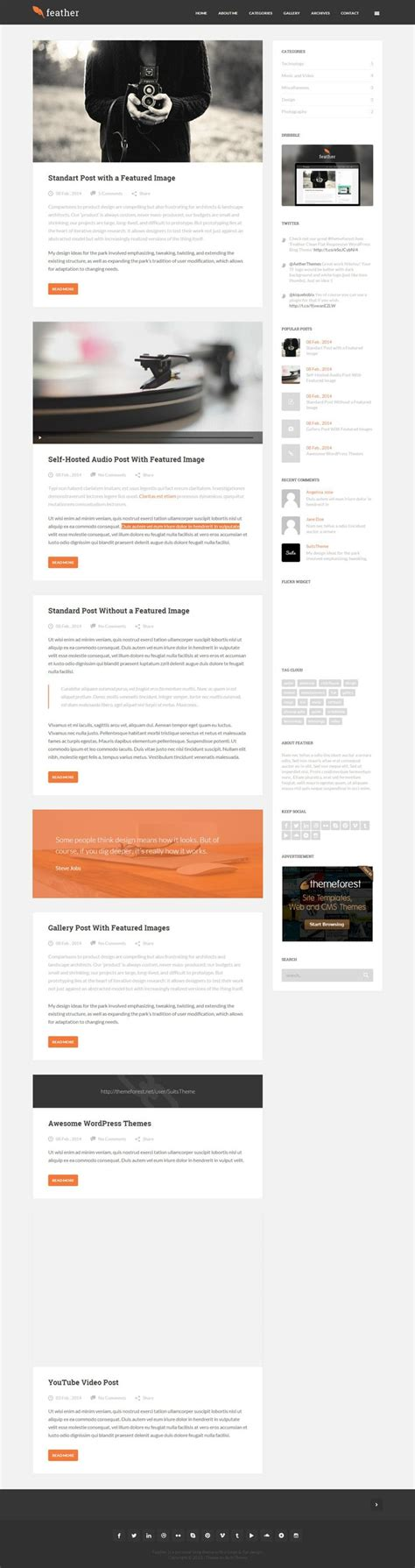 theme ref blog 261 best best wordpress themes 2014 images on pinterest