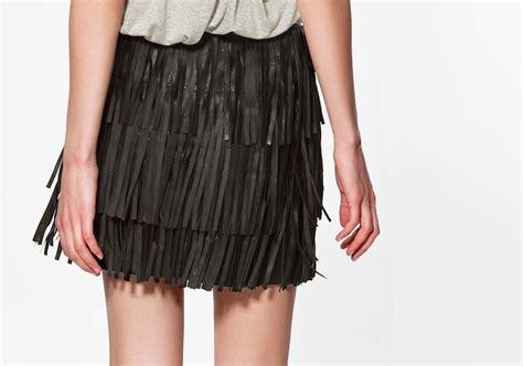 diy tutorial leather fringe skirt trashion helsinki