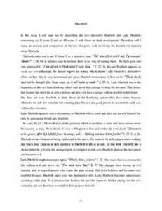 Macbeth Guilt Essay by Essay Macbeth Schulhilfe De
