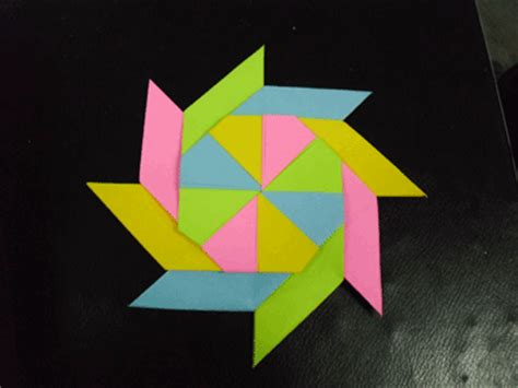 Origami Wheel - modular origami pinwheel photos