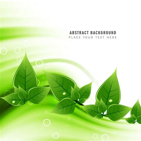 green ecology background vector