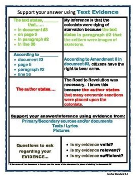 Cite Textual Evidence Worksheet by Texts Charts And S Mores On
