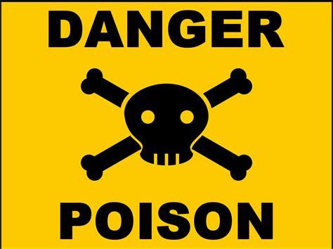 clipart poison sign