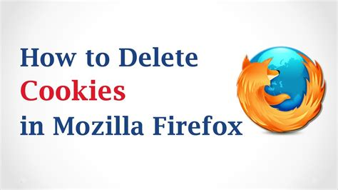 how to delete cookies in mozilla firefox youtube