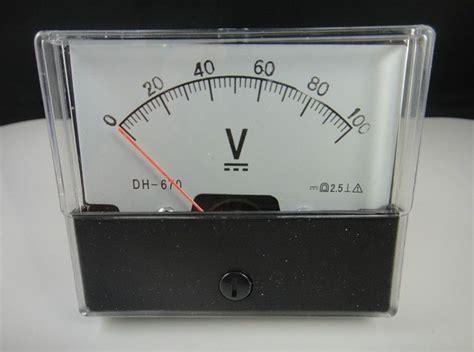 Voltmeter Dc Analog analog volt voltage voltmeter panel meter dc 0 100v ebay