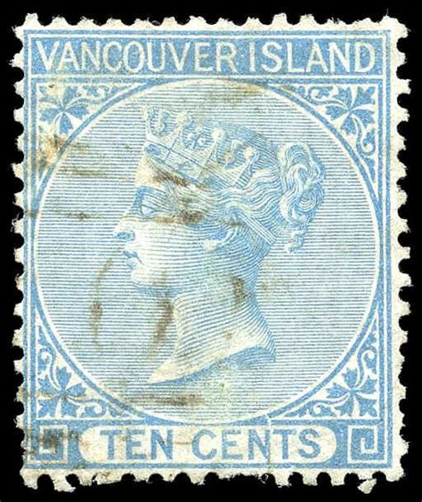 libro vancouver island itm r v british columbia 6 queen victoria 1865 10 162 used very fine u vf 001 british columbia