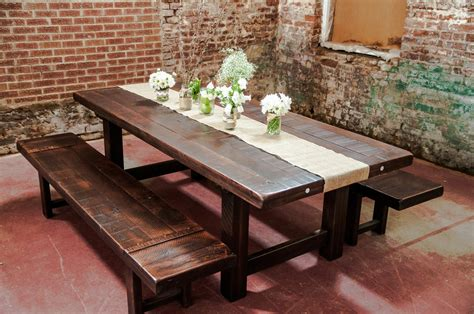 Rustic Dining Room Tables With Bench Rustic Farmhouse Dining Room Design With Reclaimed Wood Trestle Dining Table With Benches And