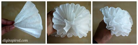 How To Make Paper Flowers Out Of Coffee Filters - easy coffee filter paper flowers diy inspired