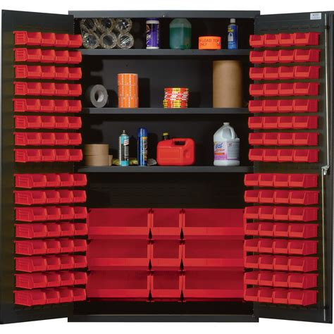 Quantum Storage Cabinet Quantum Storage Cabinet With 137 Bins 48in X 24in X 78in Size Northern Tool Equipment