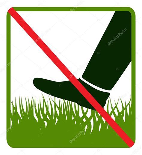 Sign Do Pas D 233 Tape Sur L Herbe Image Vectorielle