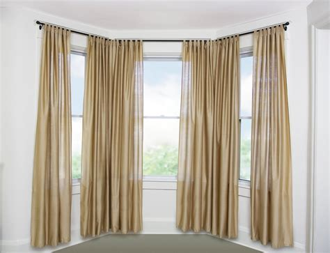 how to hang bay window curtain rods curtain rods for bay windows homesfeed