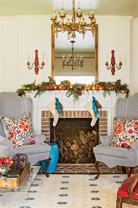 southern living home decor party our favorite living rooms decorated for christmas