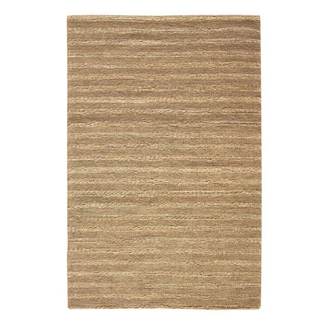 Home Decorators Collection Banded Jute Natural 7 Ft X 9 7 Jute Rug