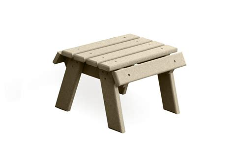 outdoor footstool poly footstool from dutchcrafters amish furniture