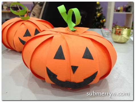 Paper Pumpkins - crafty crafted 187 archive crafts for children
