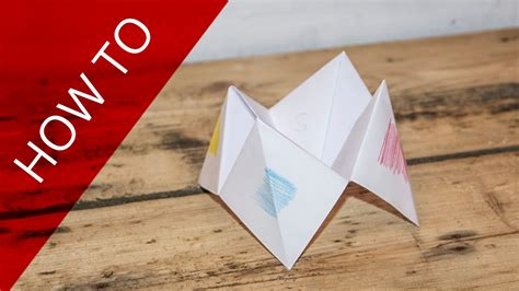 How To Make Paper Objects - how to make a paper fortune teller 101 things to do with