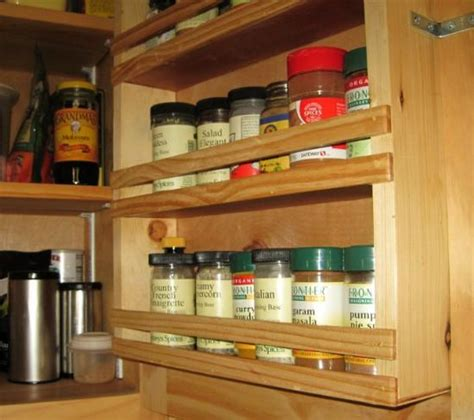 Built In Spice Rack Custom Touch For Do It Yourself Cabinets A Built In Spice