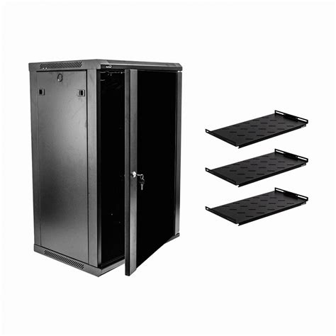 wall mount server cabinet 18u wall mount network server cabinet rack enclosure glass