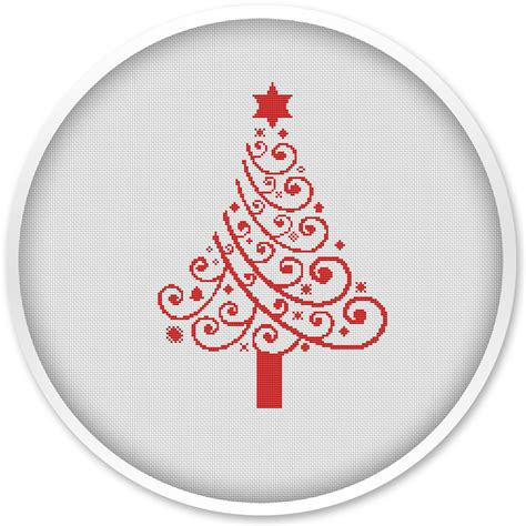 christmas tree pattern in c christmas tree cross stitch pattern instant download free