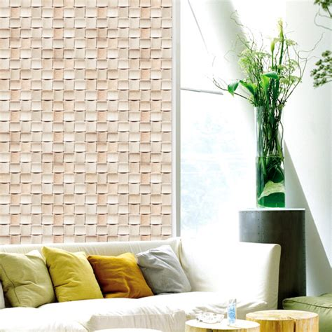peel and stick wallpaper tiles peel and stick tile apricot self adhesive vinyl wallpaper