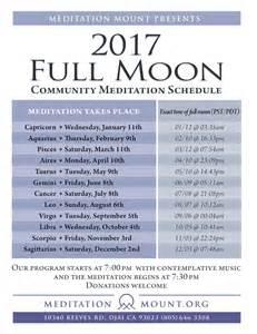 Full Moon April 2017 2017 Full Moon Schedule Meditation Mount