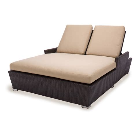 all weather wicker chaise lounge caluco maxime all weather wicker double chaise lounge at