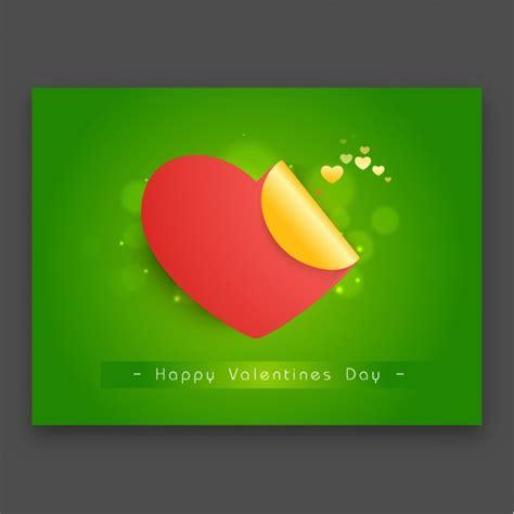 grune karte gr 252 ne valentinstag karte mit rotem herz der
