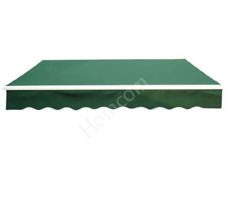 green awning outsunny 100110 005g 8 x 7 patio manual retractable sun