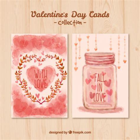 tarjetas valentines day tarjetas pintadas a mano en color rosa descargar