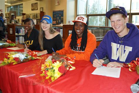 Letter Of Intent Signing Day Four Bhs Student Athletes Participated In National Letter Of Intent Signing Day Berkeley