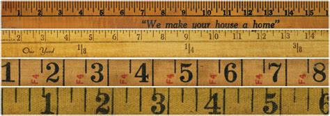 printable paper yardstick antique graphics wednesday rulers and tape measures