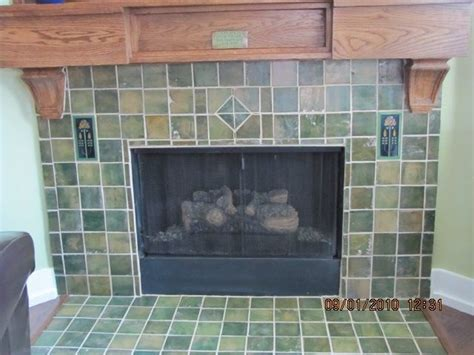 craftsman fireplace tile custom craftsman fireplace surround by cottage crafts tile