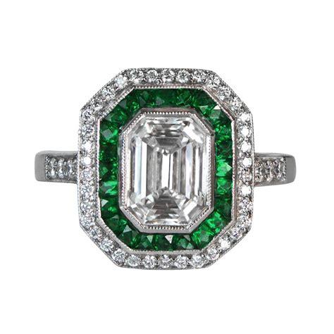 vintage emerald cut ring 1001002 estate jewelry