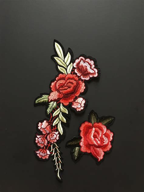 patch gucci flower iron on patch embroidery patch gucci style patch patches
