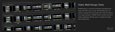 final cut pro x plugins pixel film studios released prowall kinetic plugin