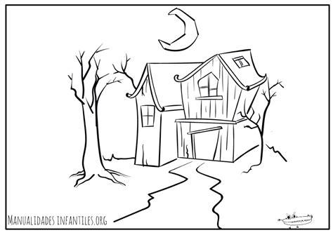 imagenes faciles para dibujar de casas dibujos de halloween manualidades infantiles