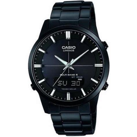 casio nero acciaio orologio casio lcw m170db 1aer orologio uomo acciaio