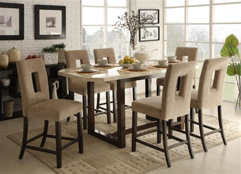 collection in tall dining table set with room best regarding stylish homelegance reiss counter height dining set d3271 36