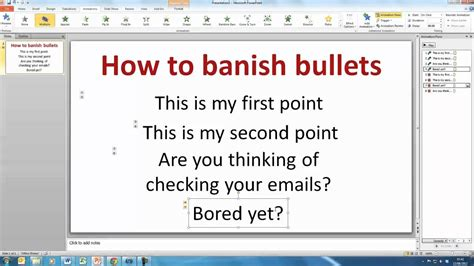 powerpoint how to create a bullet point template slide