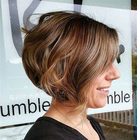 angled bob with waves for 40 year old woman 189 best images about haircuts on pinterest curly bob