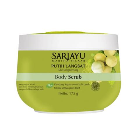 Harga Sariayu Putih Langsat 2018 5 rekomendasi scrub dari brand lokal dengan harga di