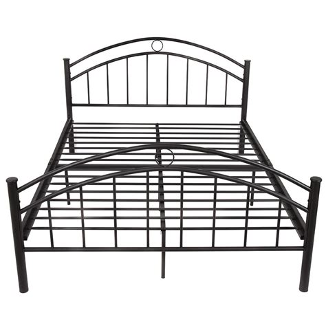 metal queen size bed frame us queen size metal bed frame mattress platform headboard