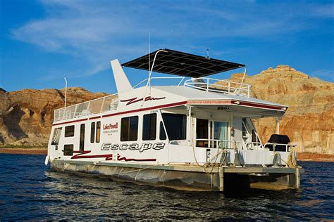 pontoon boat rentals lake powell utah escape luxury houseboat rental lake powell resorts
