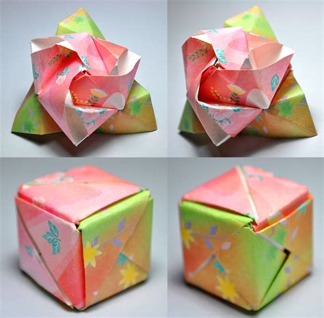 Origami Flower Cube - origami magic cube by satkyoyama on deviantart