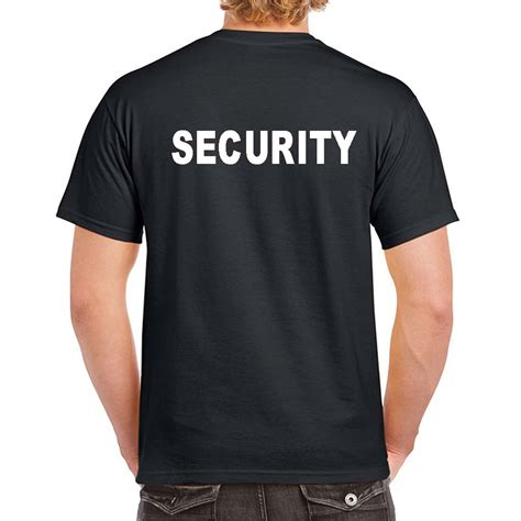 Security T Shirts   Custom Security Uniform   100% Cotton Preshrunk