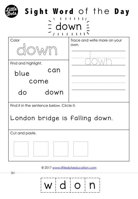 Dolch Sight Word Worksheets For Free by 7 Best Sight Words Activities Images On Sight