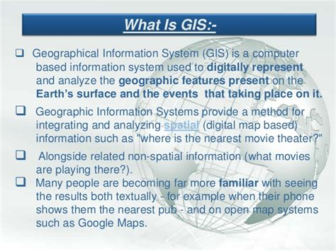 My Ppt On Gis Gis Powerpoint Templates